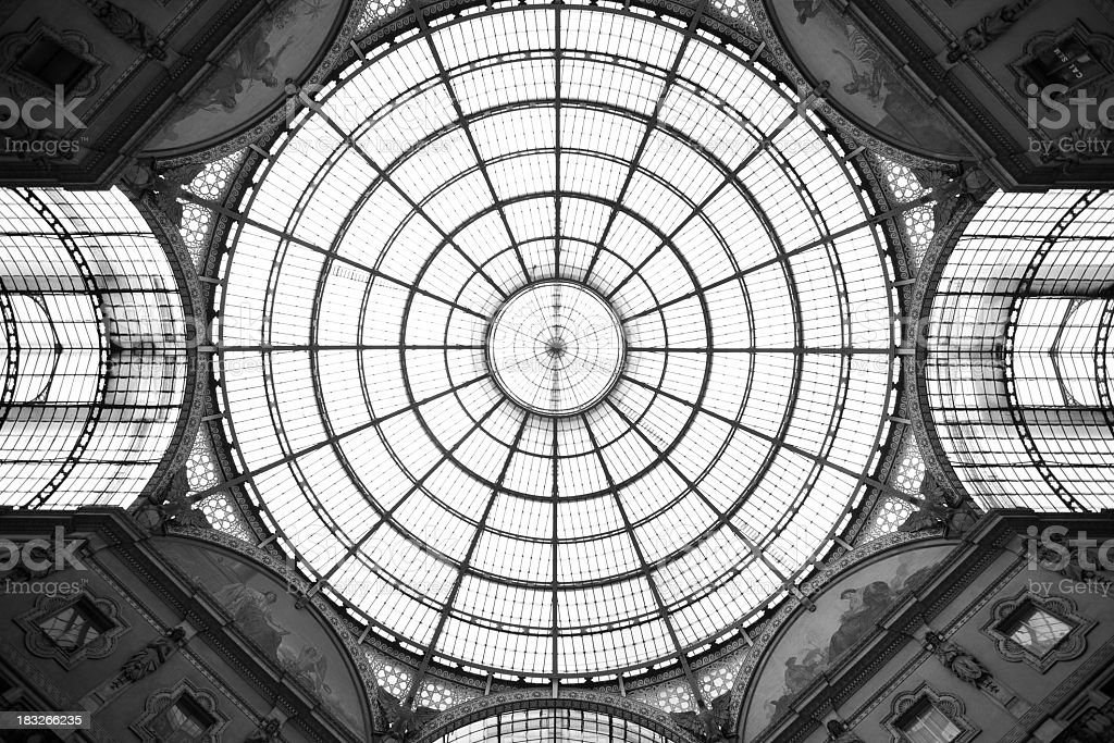Galleria Vittorio Emanuele II royalty-free stock photo