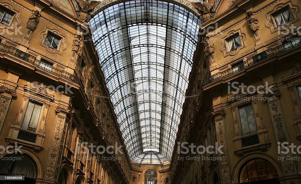 Galleria Vittorio Emanuele II roof 2 royalty-free stock photo