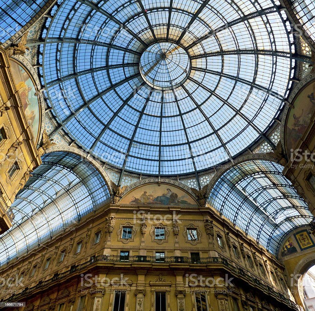 Galleria Vittorio Emanuele royalty-free stock photo