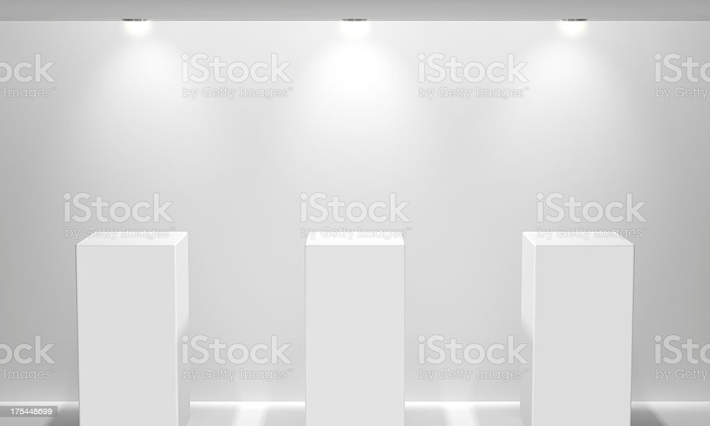 Gallery Display Stand stock photo