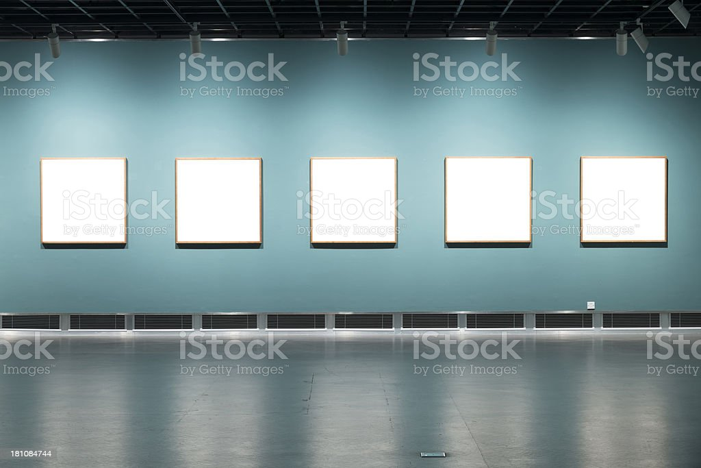 gallery in art museum royalty-free stock photo