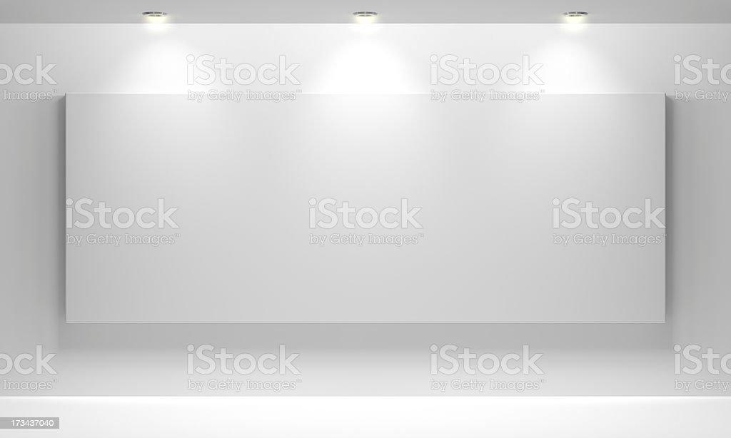Gallery Interior with empty stock photo