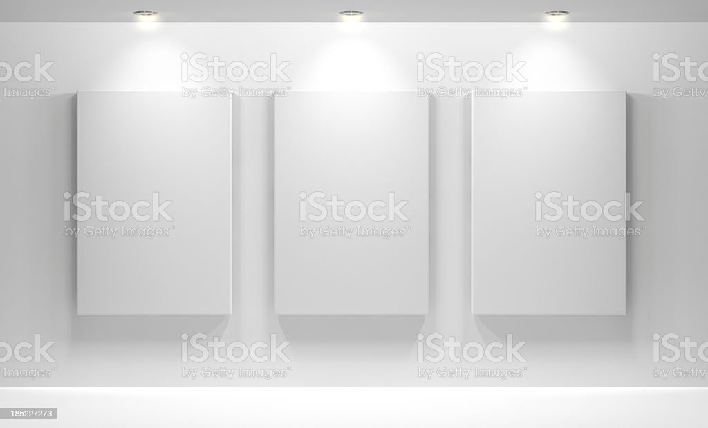 Gallery Interior with empty stock photo