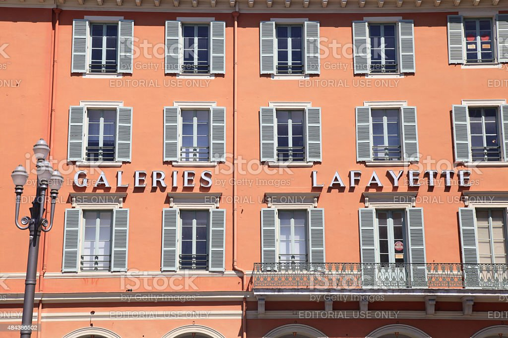Gallery Lafayette, Nice, France stock photo