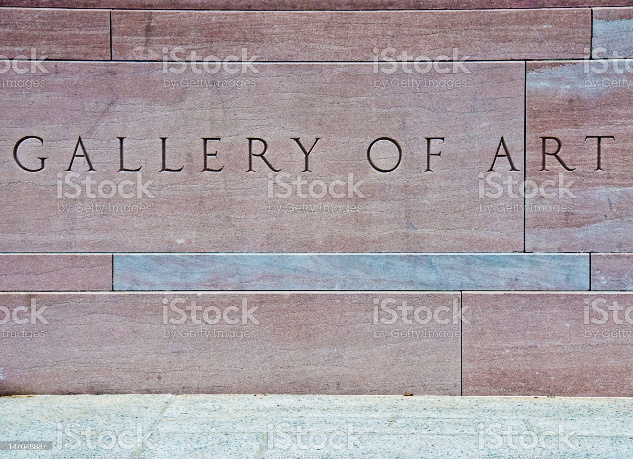 Gallery of Art royalty-free stock photo