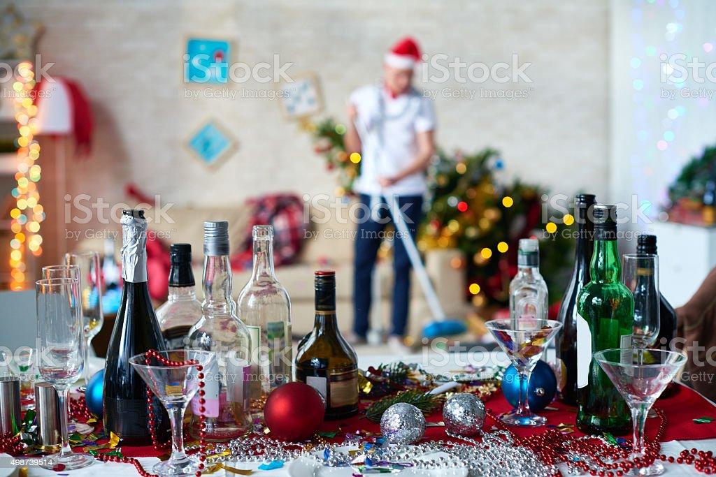 Gallery of bottles stock photo