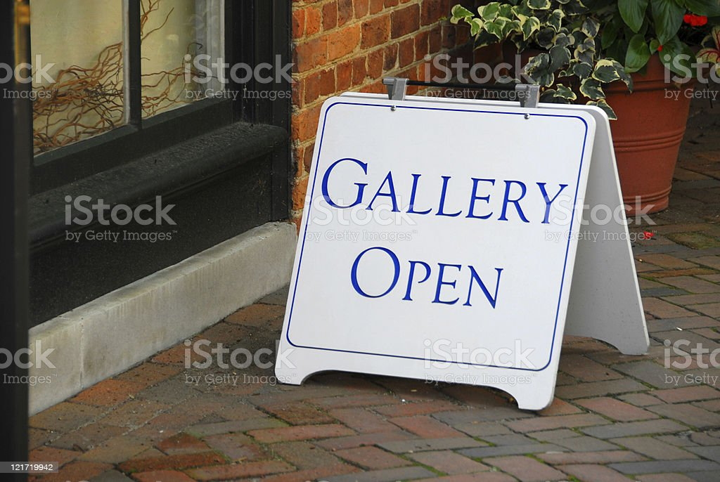 Gallery Open royalty-free stock photo