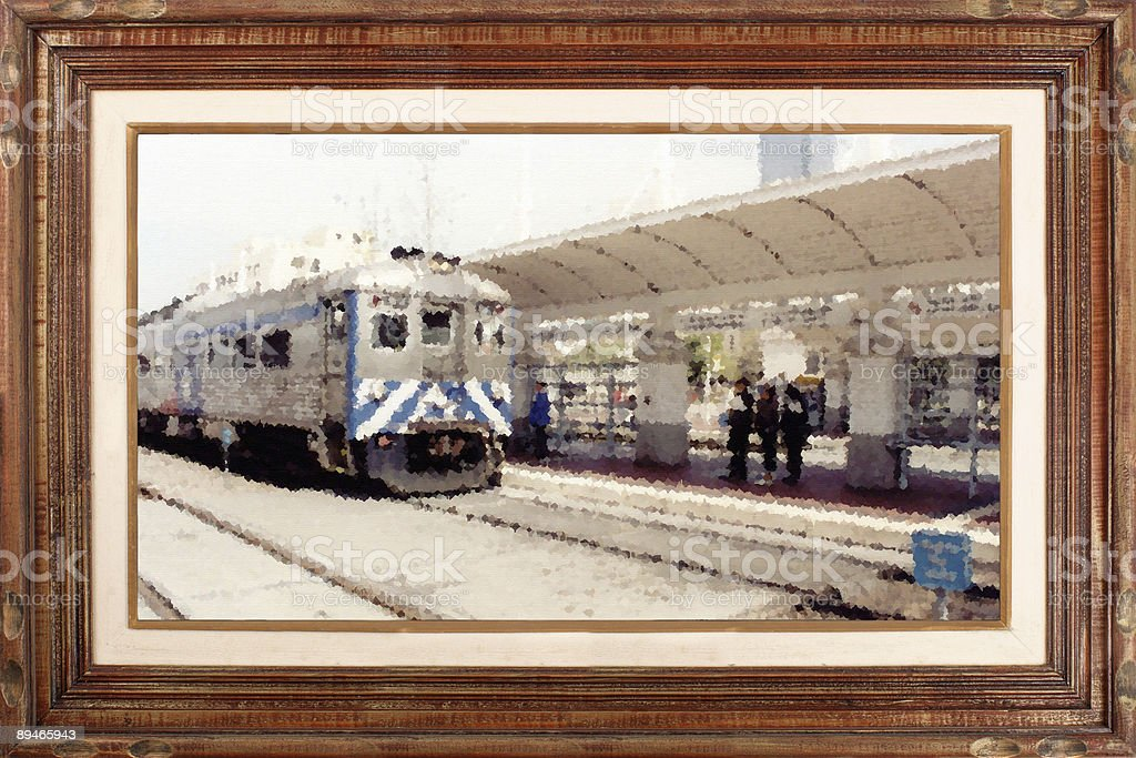 Gallery serie - Station stock photo