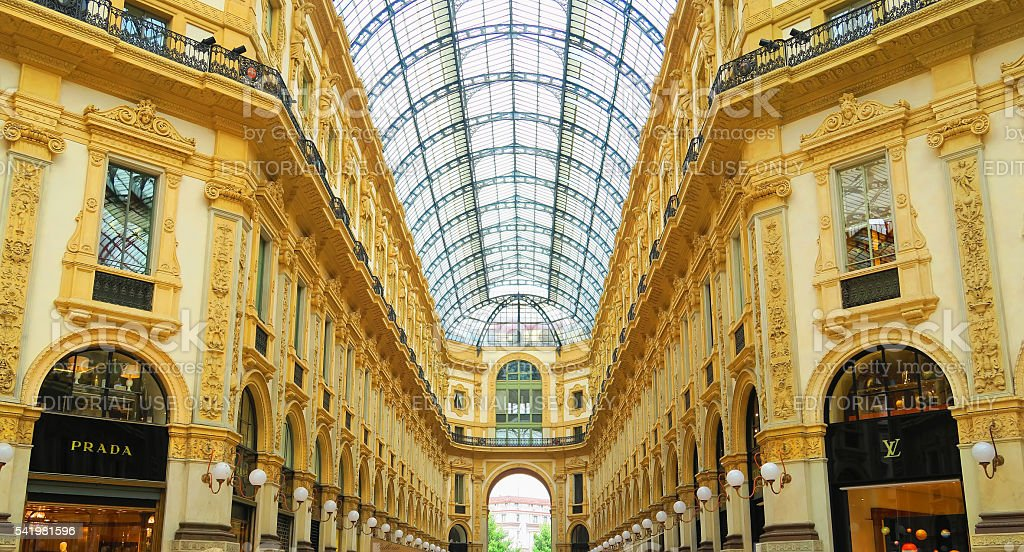 Gallery Vittorio Emanuele II,Milan,Italy stock photo
