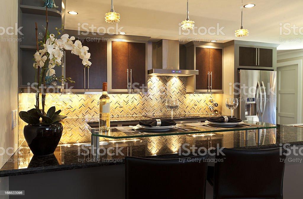 Galley Kitchen stock photo