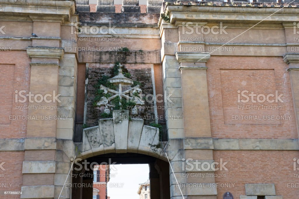 Galliera gate in Bologna stock photo