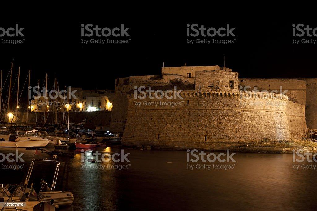 Gallipoli By Night, Apulia - Italy stock photo