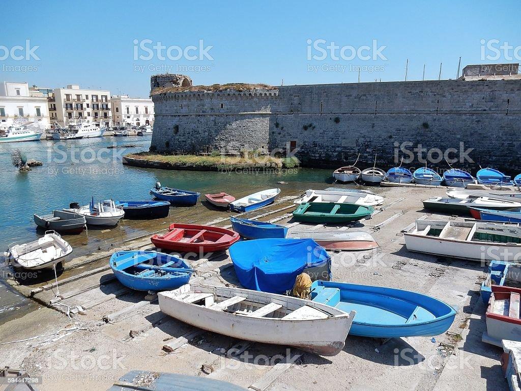 Gallipoli - Porto del Castello stock photo