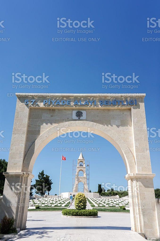 Gallipoli Turkish Infantry Memorial stock photo