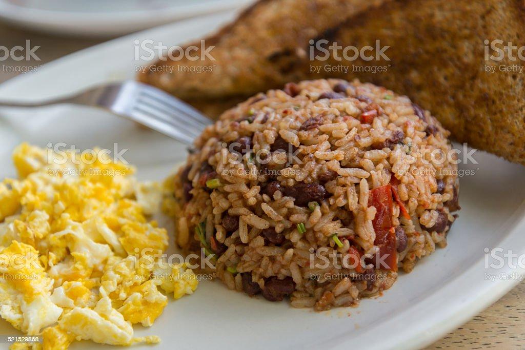 Gallo pinto breakfast stock photo