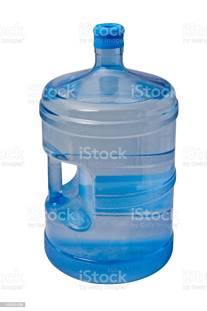 A gallon of drinking water ready to be put on a dispenser royalty-free stock photo