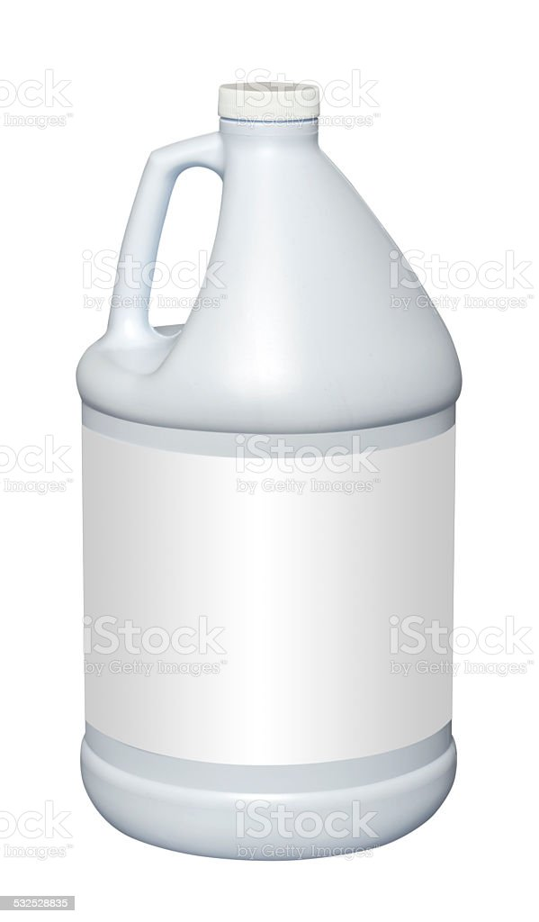 Gallon plastic jug, isolated stock photo
