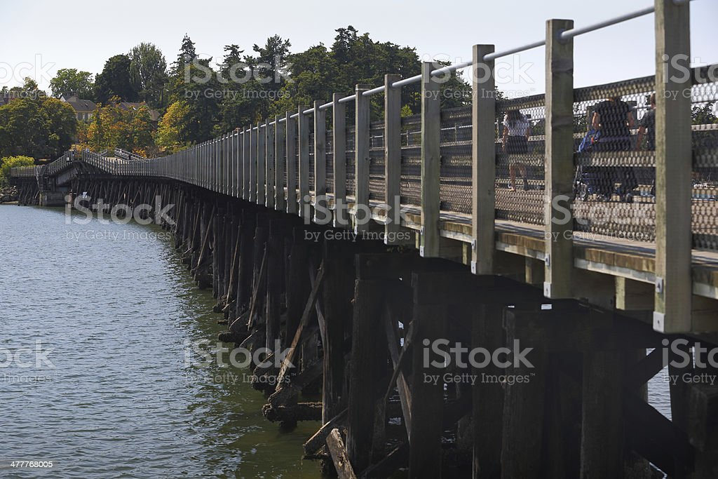 Galloping Goose Trail Bridge, Victoria royalty-free stock photo