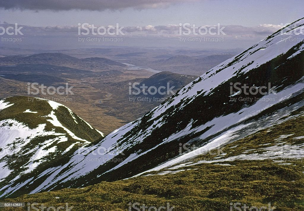 Galloway and Loch Doune from The Merrick stock photo