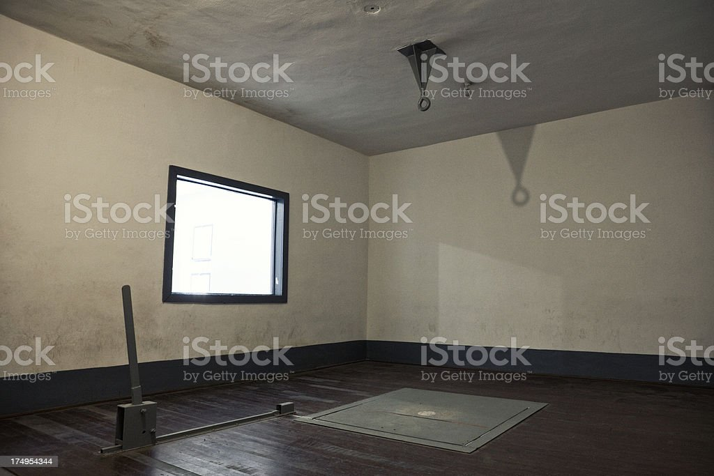 Gallows Room in Old Prison stock photo
