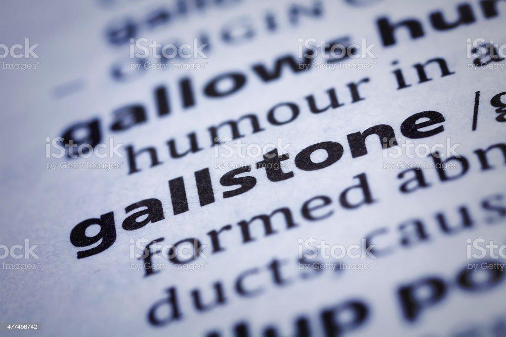 Gallstone: Dictionary Close-up stock photo