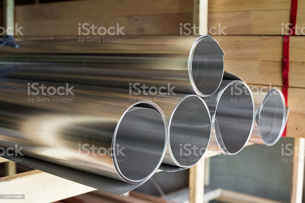 Galvanized coil stock photo