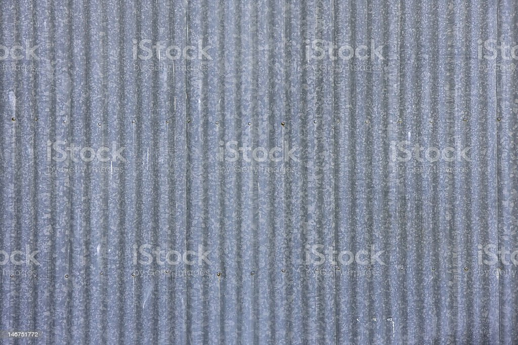 Galvanized corrugated steel royalty-free stock photo