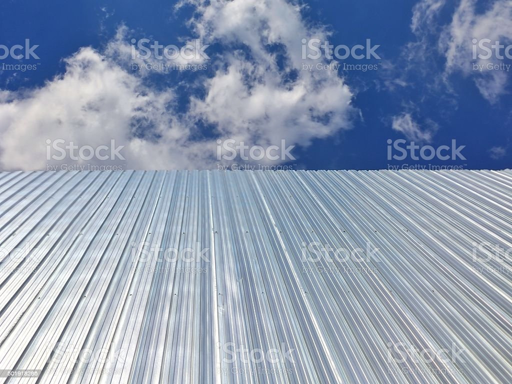 galvanized iron isolated on nice sky stock photo