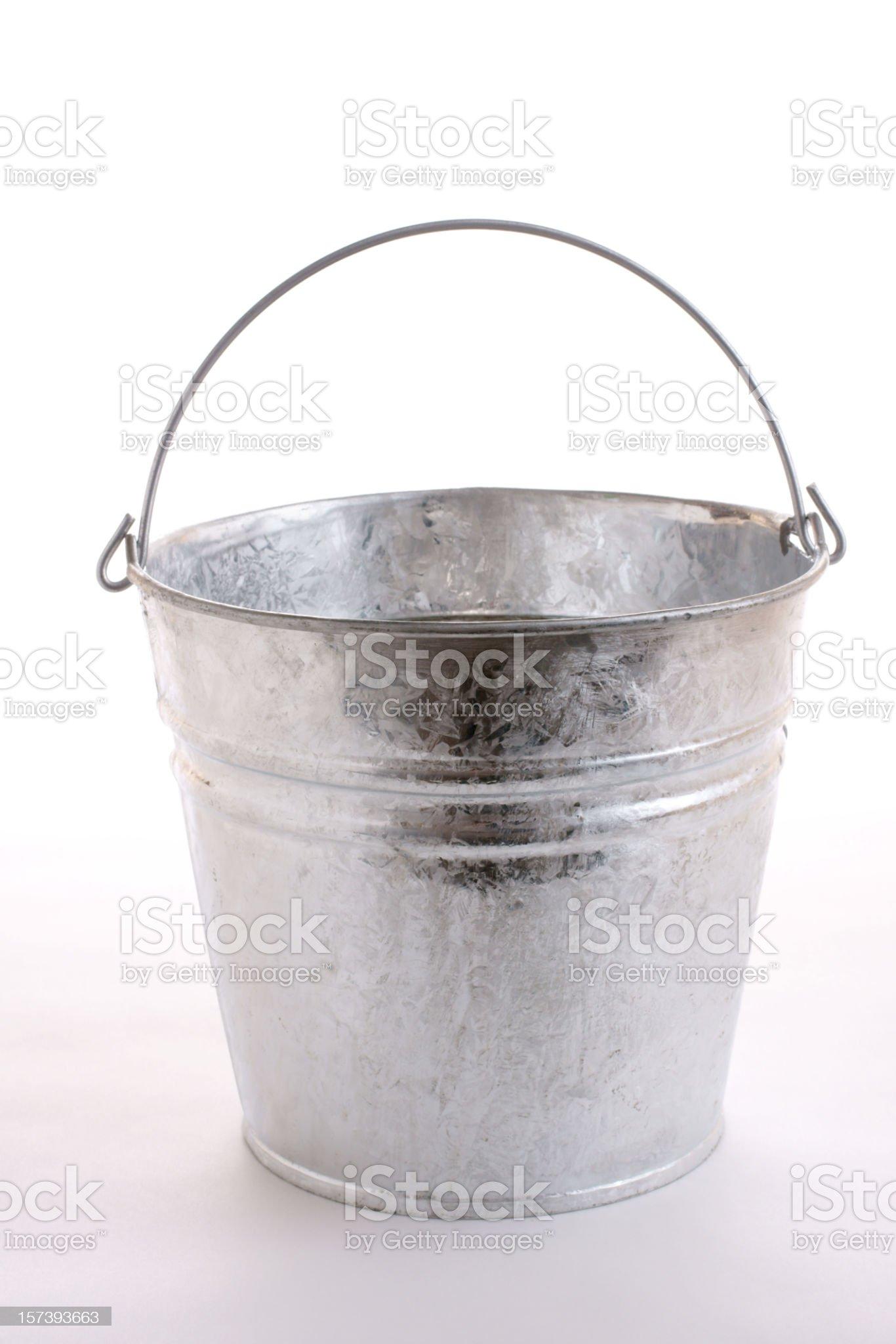 galvanized metal bucket royalty-free stock photo