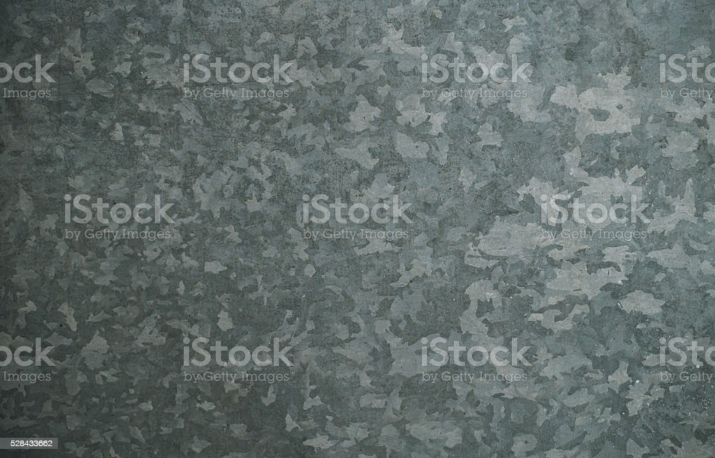 Galvanized metal. Sheet metal stock photo