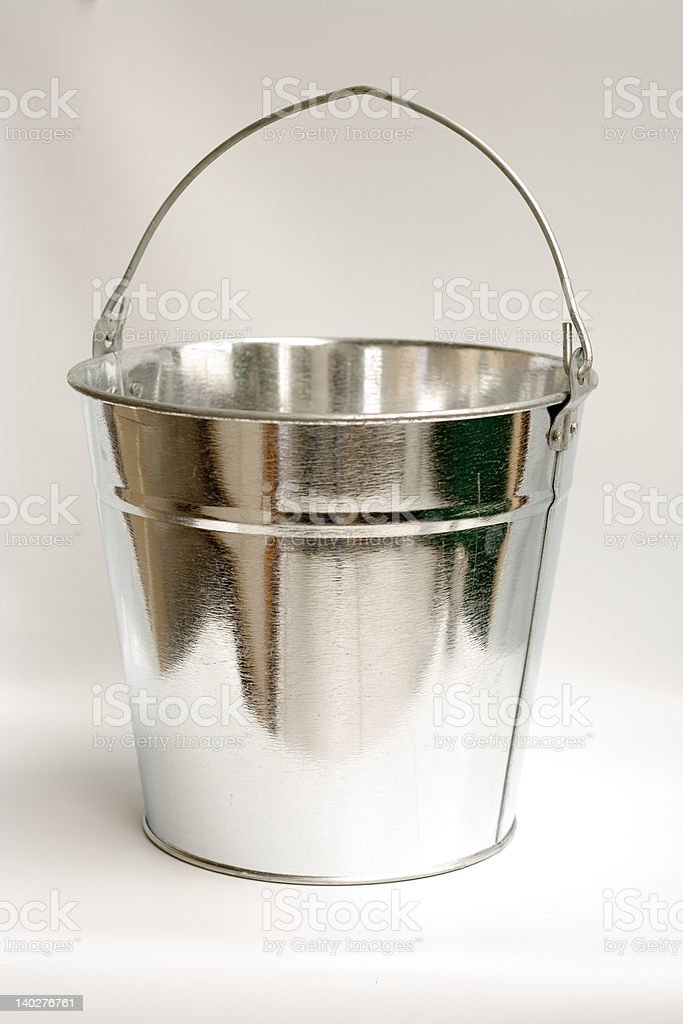 Galvanized Steel Bucket royalty-free stock photo