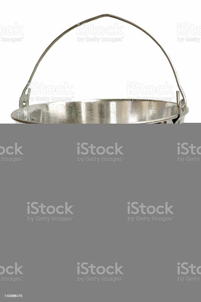 Galvanized Steel Bucket (Inc Clipping Path) royalty-free stock photo