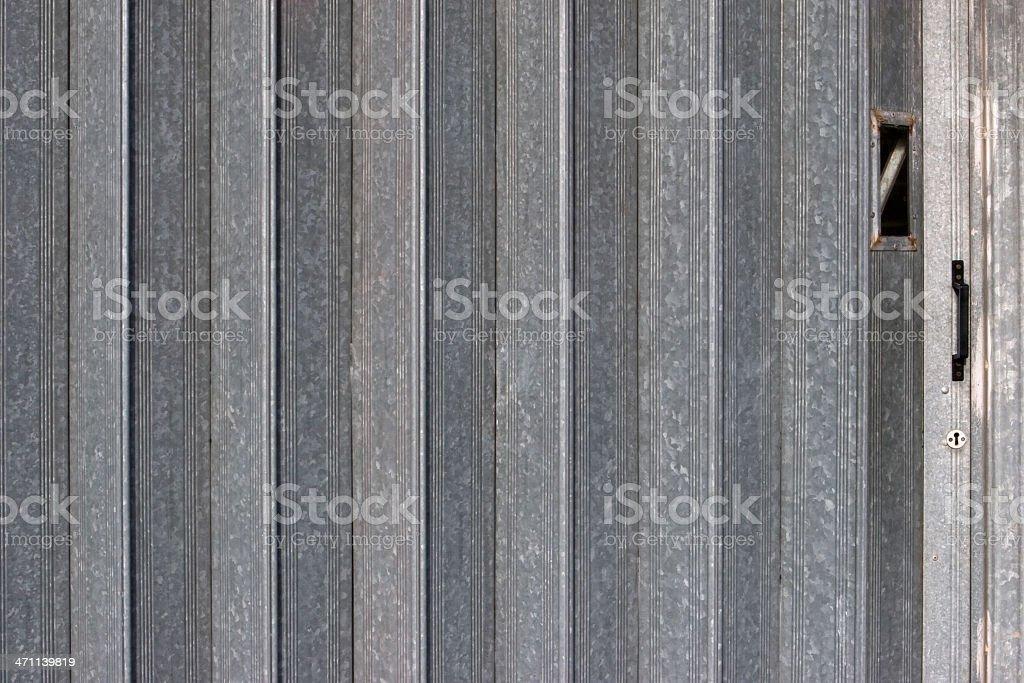Galvanized Steel Shutter Gate royalty-free stock photo