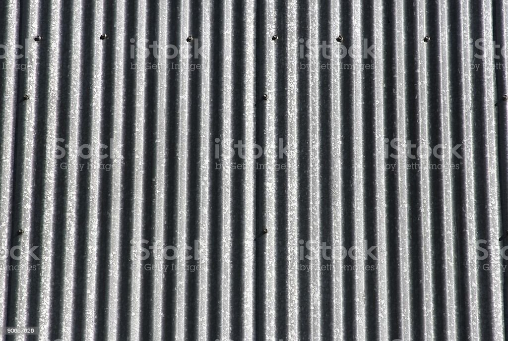Galvanized Steel Wall royalty-free stock photo