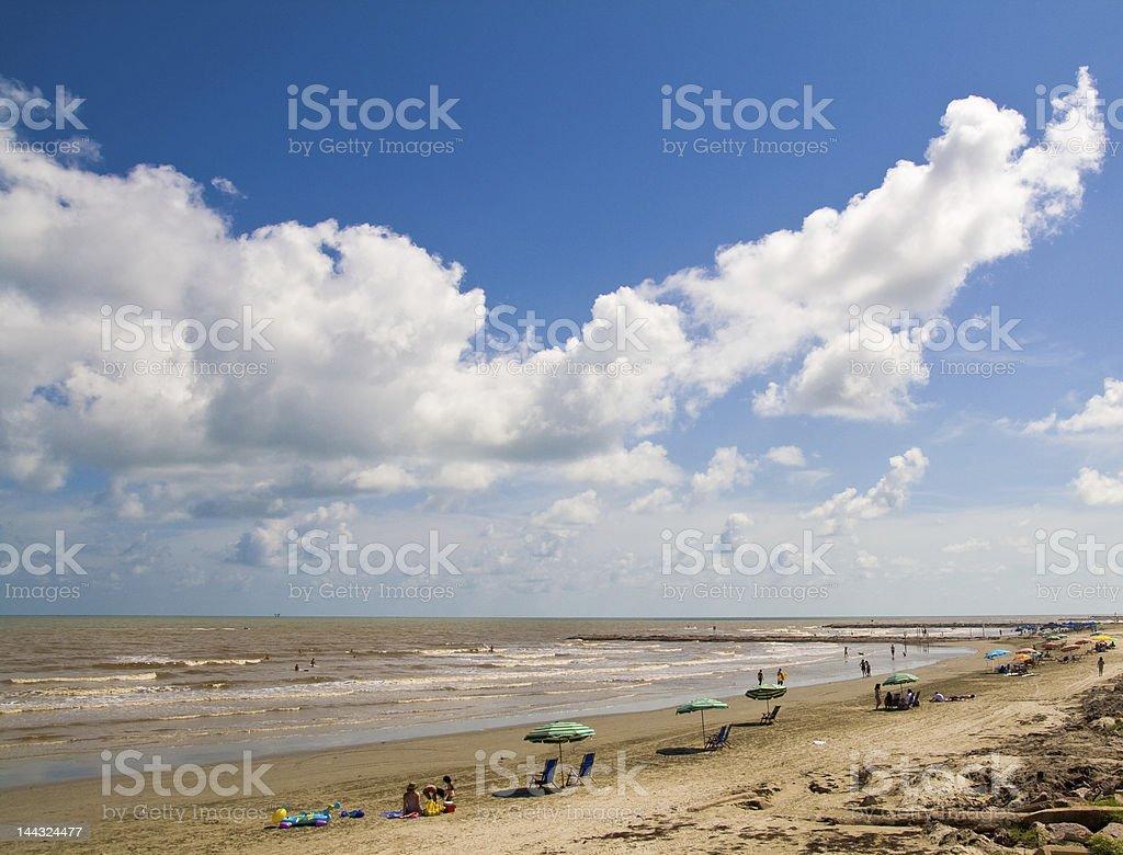 Galveston beach stock photo