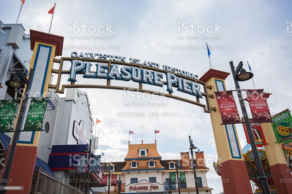 Galveston, Texas Pleasure pier stock photo