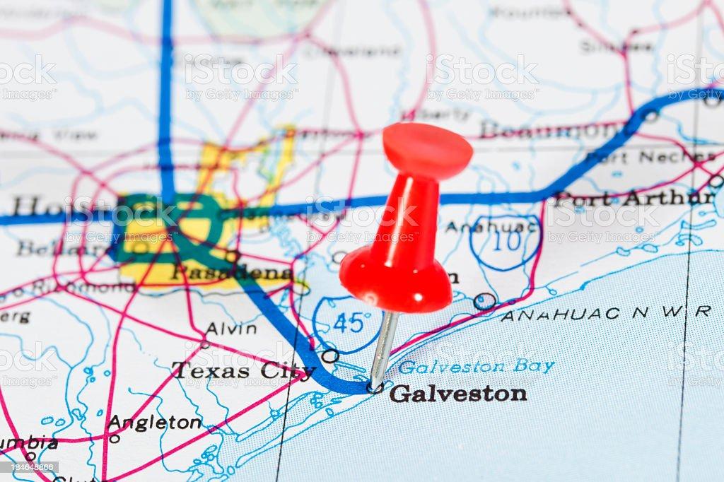 Galveston, Texas, USA stock photo