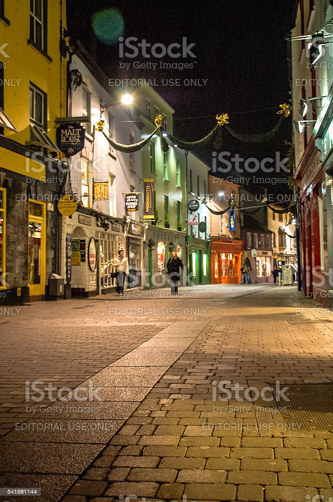 Galway at Night stock photo