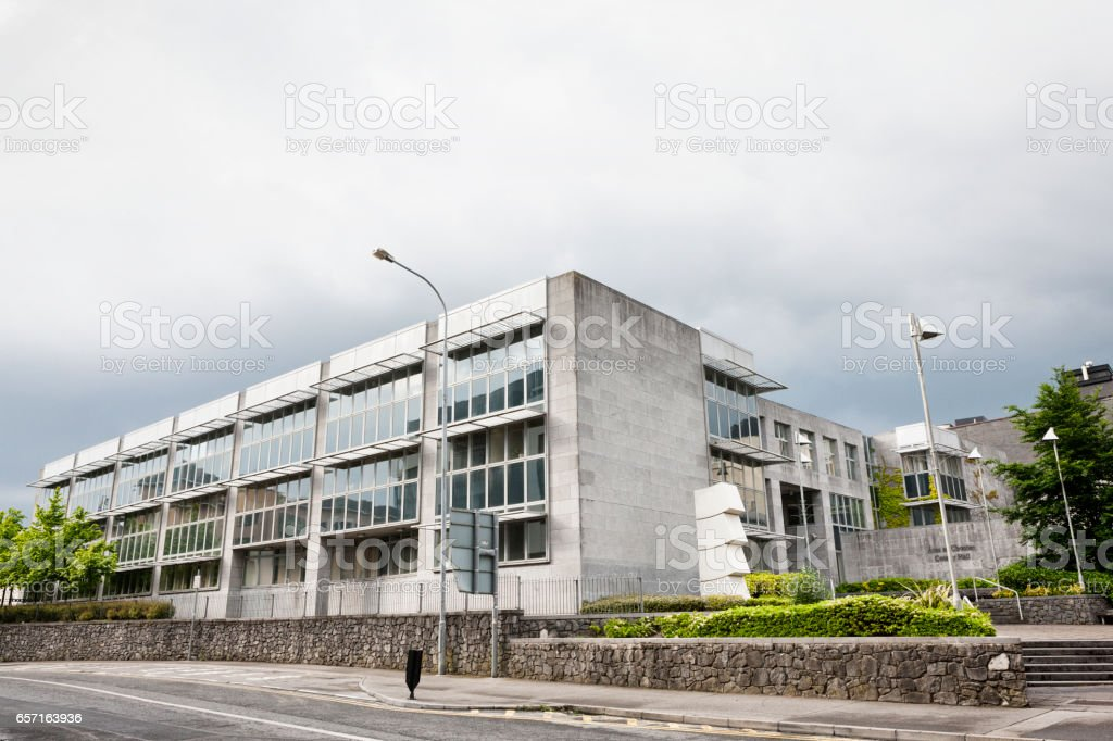 Galway County Hall in Galway, Ireland. stock photo
