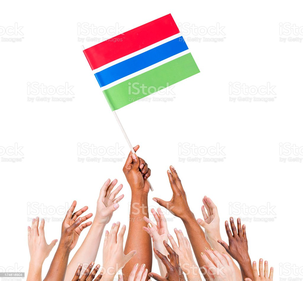 Gambia Flag royalty-free stock photo