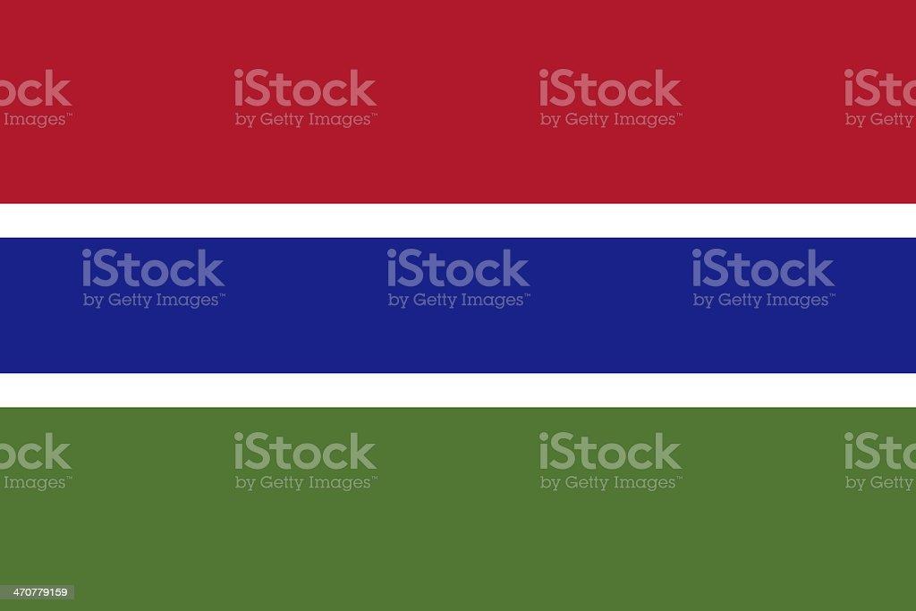 Gambia Flag royalty-free stock photo
