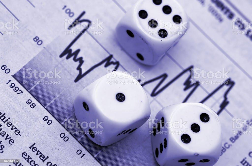 Gamble royalty-free stock photo