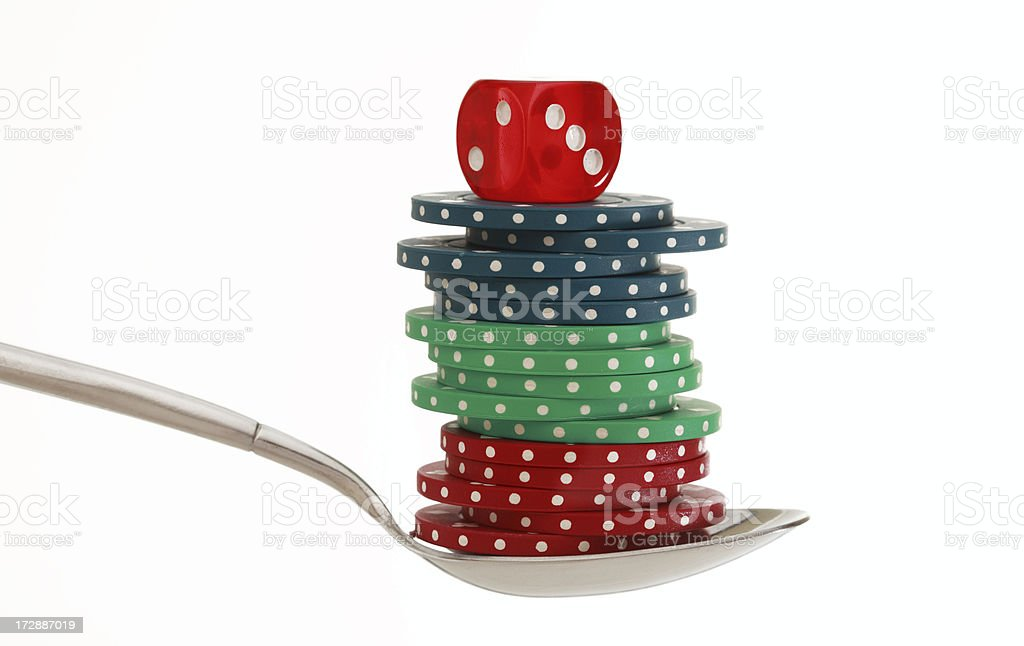 Gambler medicine stock photo