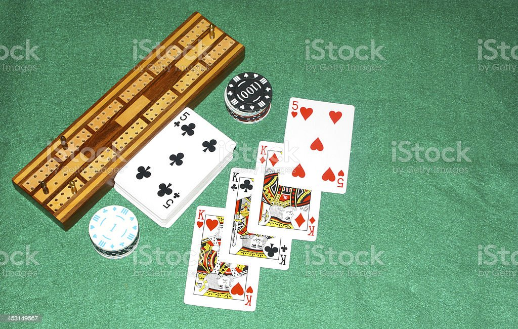 Gamblers game stock photo