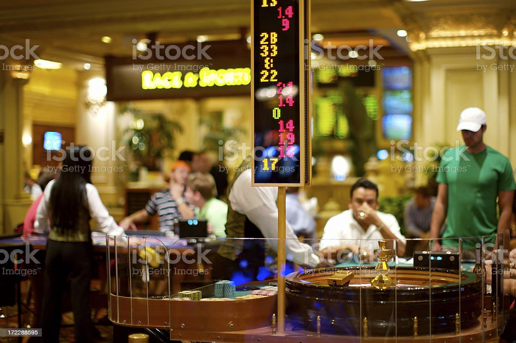 Gamblers in action royalty-free stock photo