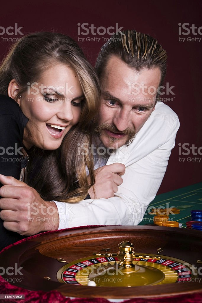 Gamblers in casino stock photo