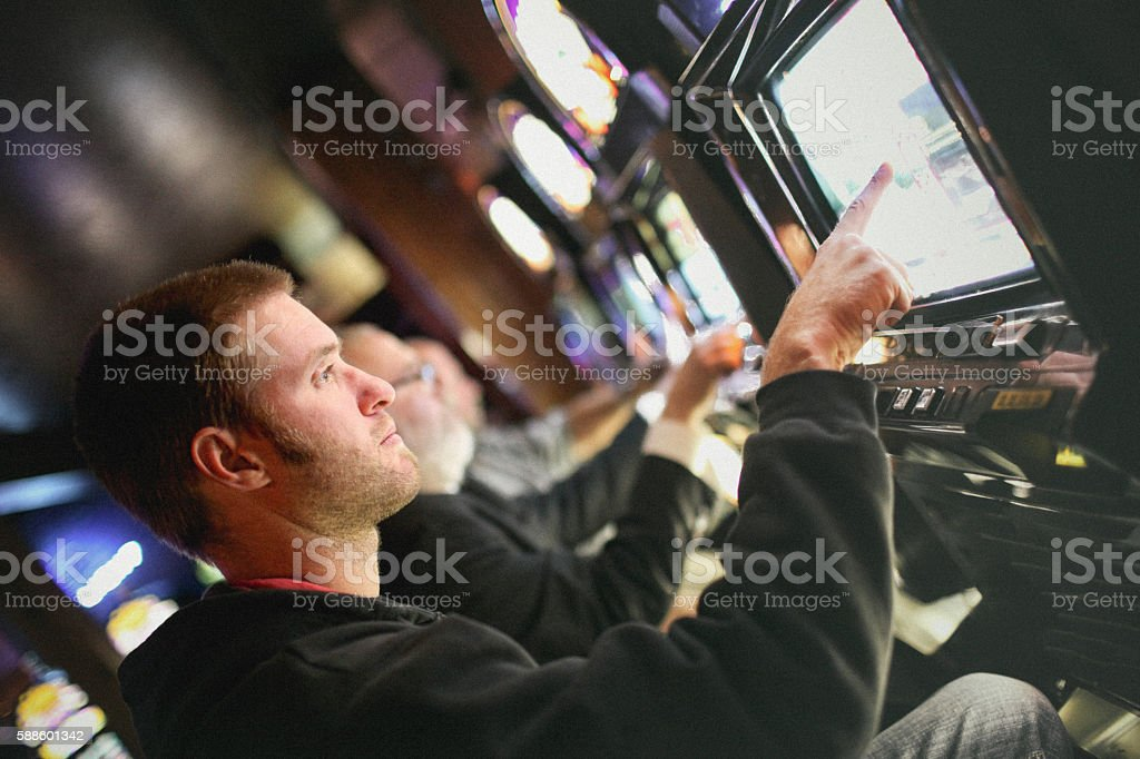 Gamblers stock photo