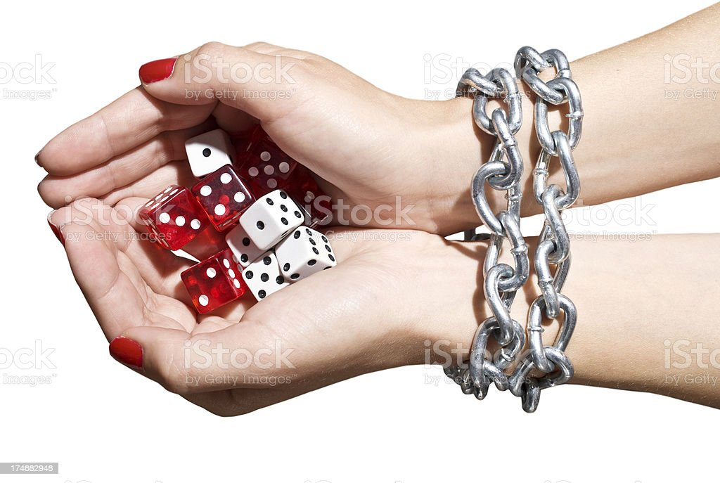 Gambling addiction royalty-free stock photo