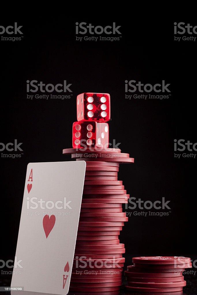 Gambling background stock photo