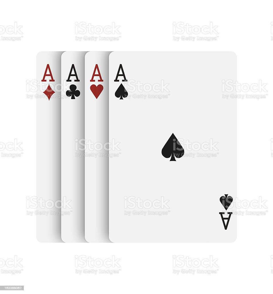 Gambling cards with aces royalty-free stock photo
